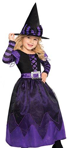 Amscan, costume da strega per bambine, costume per halloween