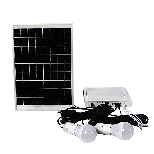 Mobile Storage-systeme (DC HOUSE Solar Panel Power Storage Generator System LED Light Multiple Charger Home Kit For Tent Camping)