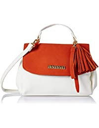 Caprese Aniston Women's Sling Bag (Orange)