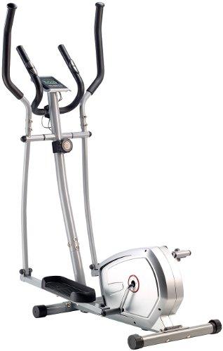 PEARL sports Heimtrainer: Crosstrainer mit 5 kg Schwungmasse, Pulsmesser & Magnetbremse (Ellipsentrainer)