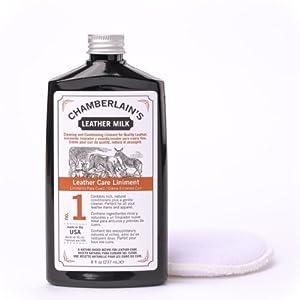 Chamberlain's Leather Milk – Nr. 1-2 – Set aus Leder-Conditioner & Reiniger – Naturbasis/ungiftig – 2 Auftragepads 2…