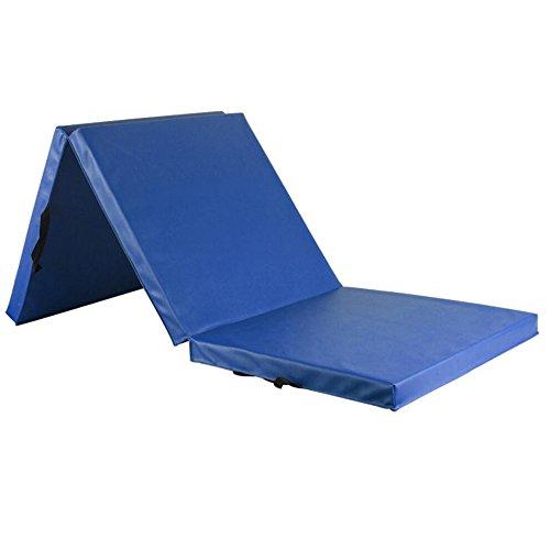 Wly&Home Weiche Bodenmatte Faltbare Tragbare Gymnastikmatten-Turnhallenmatte Starke Bodenmatte180*60*5Cm,Blue
