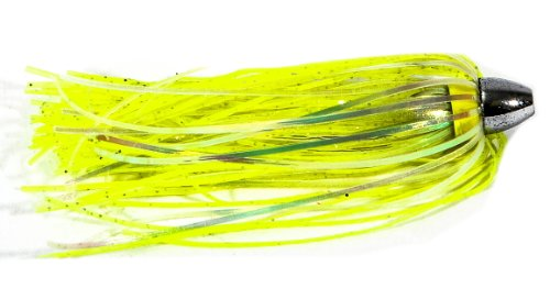 Boone Duster Lures (Pack von 3), Chartreuse/Silver Flake Mylar (Mylar-teaser)