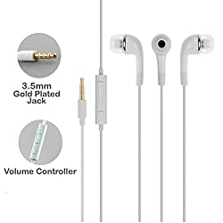 Techcare EHS64 YS-YR Samsung Handsfree 3.5 mm Jack Mp3 Earphones With Mic For Samsung GALAXY Series Mobiles /Universal 3.5mm Jack In the Earphonefor all samsung phones / Handfree / Headset WIth Mic / 3.5mm Jack and Original Earphone like Performance Best High Quality Sound Earphones - White