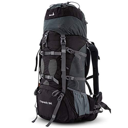 YLFF Outdoor-Bergsteigen-Tasche Rucksäcke, Verstellbarer, 75 l mit großem Fassungsvermögen, Leichter Wanderrucksack für Camping, Jagd, Reisen