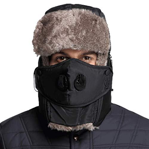 Sombrero de piel de trampero de invierno