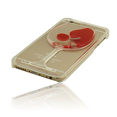 iPhone 6 Plus (5.5 Zoll) Hülle Handyhülle, Weinglas Form Case Cover für iPhone 6S Plus, Polychrome Flüssigkeit, Hohe Transparenz Kristall Klar iPhone 6 Plus / iPhone 6S Plus (5.5 Zoll) Schutzhülle + H Rot