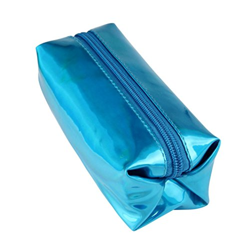 Familizo Deposito borse cerniera Box Cosmetic Cosmetic contenitore di matita penna olografica Moda (Oro) Blu