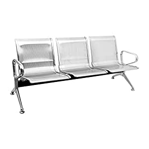 Sunstar Three Seater Airport Waiting and Reception Chair Stainless Steel (ATC03)