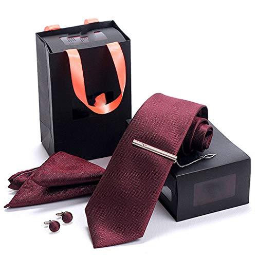 YONGYONG Corbata De Los Hombres De Cuatro Piezas Rojo