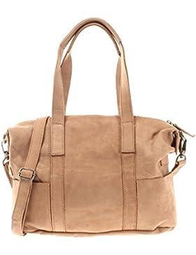 LECONI Shopper Vintage Look Damen Leder Henkeltasche Schultertasche Echtleder Natur Handtasche 37x28x15cm LE0034