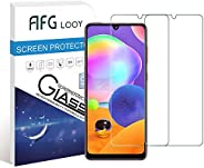 AFGLOOY 2Pack, Screen Protector Compatible with Galaxy A31, Tempered Glass for Samsung Galaxy A31, 9H Hardness