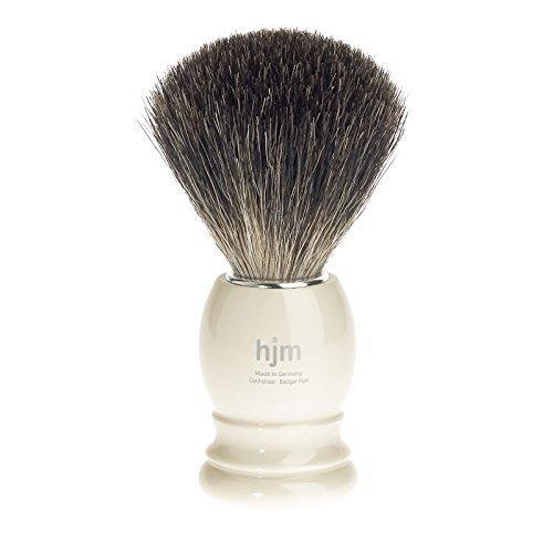 hjm - Pennello rasatura, capelli di puro tasso - Materiale