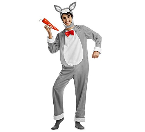 Imagen de disfraz conejo color gris talla m/l tamaño adulto
