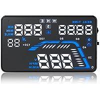 "Q7 5.5 ""Universal Auto Vehicle GPS HUD Speed ??Odómetro Head UP Display Digital Car Velocímetro Sobrevelocidad Alerta"