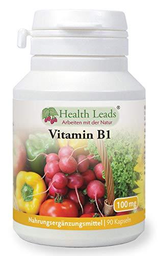 Vitamin B1 100mg x 90 Kapseln|Frei von Magnesiumstearat & üblen Zusätzen|Leicht zu schluckende kleine Kapsel|Thiamin trägt zum gesunden Stoffwechsel und gesunder Herzfunktion bei |Hergestellt in Wales