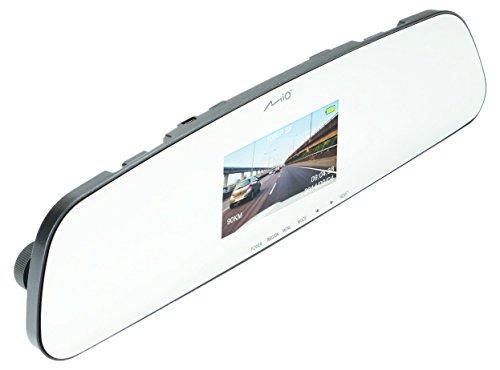 MIO MiVue R30 Armaturenbrettkamera für den Rückspiegel, HD-Aufnahmen mit 130° Weitwinkel, G-Sensor, 3Achsen, Schwarz