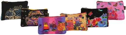 laurel-burch-9-x-1-x-6-inch-feline-minis-cosmetic-bag-zipper-top-assortment