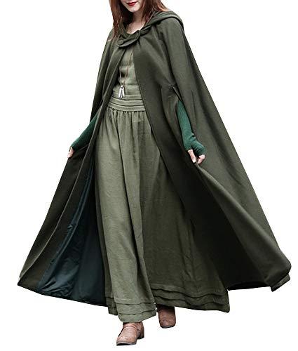 Ybenlover Damen Maxi Kapuzen Umhang Cosplay Kostüme Mantel