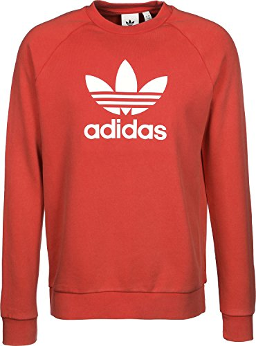 adidas Herren Trefoil Crew Sweatshirt, Collegiate Red, M (Sweatshirt Print Adidas)
