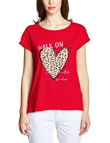 Street One Damen 313434 T-Shirt, Rot (Vivid red), 42