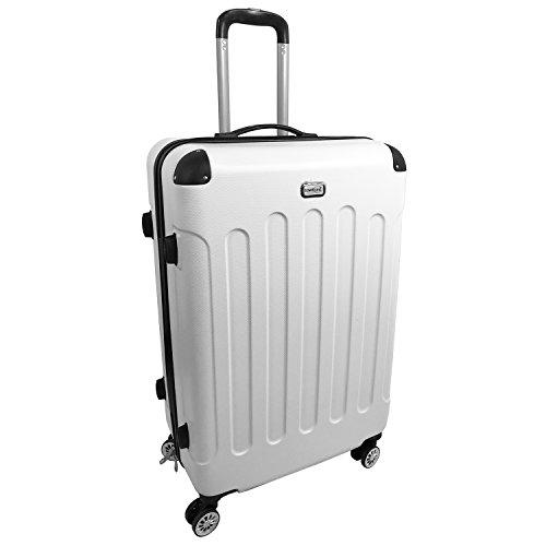 XXL Hartschalen Koffer Reisekoffer Reise Trolley Trolly Reisetasche Weichgepäck Reise Weiß Koffer