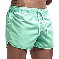 JiaMeng Pantalón Corto Pantalones Entrenamiento Deportivo Culturismo Pantalones Cortos de Verano Entrenamiento Fitness Pantalones Cortos Gym