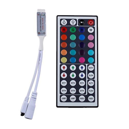 LEDMO IR di 44 chiavi di controllo telecomando, regolatore mini striscia di RGB, 12V Max 6A regolatore di RGB, connettore a 4 pin per 5050 striscia di RGB LED multi colore che cambia Statico, Flash, Strobe e modalità Fade