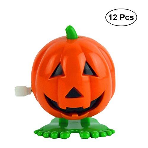 Kürbisse Springen Wind up Spielzeug Lächeln Gesicht Kürbis Party Favor Halloween Goody Tasche Vorschule Spielzeug Für Kinder Geschenk Pack 12 STÜCKE ()