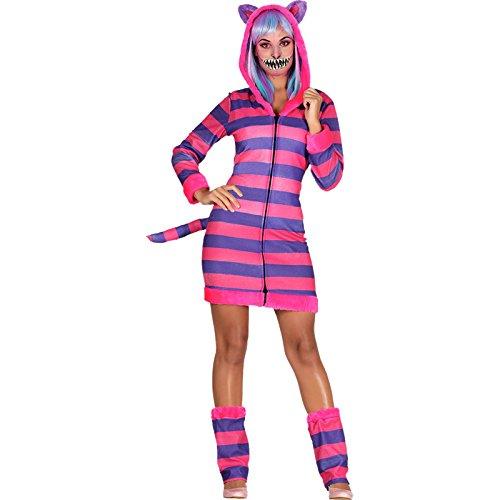 loween Grinsekatze Kostüm Damen Onesie (Rote Katze Halloween Kostüm)