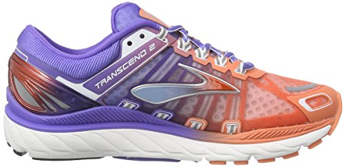 Brooks Transcend 2 Damen Laufschuhe Mehrfarbig (FreshSalmon/BlueIris/Silver)