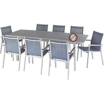 LE DEPOT BAILLEUL - Table Titanium extensible blanc 12 places ...