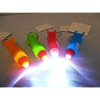Partynelly 12 Schlüsselanhänger Kunststoff Rakete mit Licht | Mitgebsel Weltraum-Party | Weltall | Astronaut | Kindergeburtstag