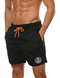 Brandit Swimshorts Mens Holiday Beach Trunks Swim Pants Black Stars /& Stripes