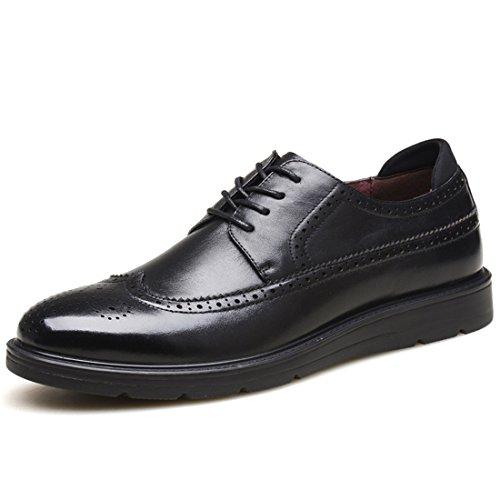 HENGJIA Herren Freizeitliche Arbeitsschuhe Klassischer Schnürhalbschuh Oxford-Schuh A603008 Braun