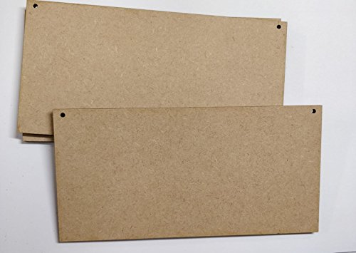 LaserKris Placas de madera en blanco para manualidades (10 unidades, 20 x...