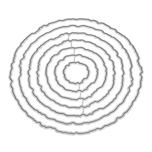 Wiffe Kreis Rahmen Metall Stanzformen Schablone DIY Scrapbooking Album Stempel Papier Karte Prägung Handwerk DekorWeihnachts-Erntedankfest
