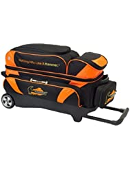 Hammer Premium 3 Ball Roller Bowling Bag- Black/Orange by Hammer Bowling Products