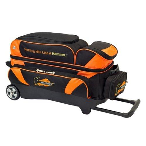 Hammer Premium 3 Ball Roller Bowling Bag- Black/Orange by Hammer Bowling Products (Hammer Bowling Taschen 3-ball-roller)