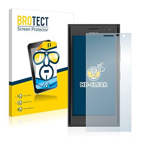 BROTECT Schutzfolie kompatibel mit Nokia Lumia 730 Dual SIM [2er Pack] klare Bildschirmschutz-Folie