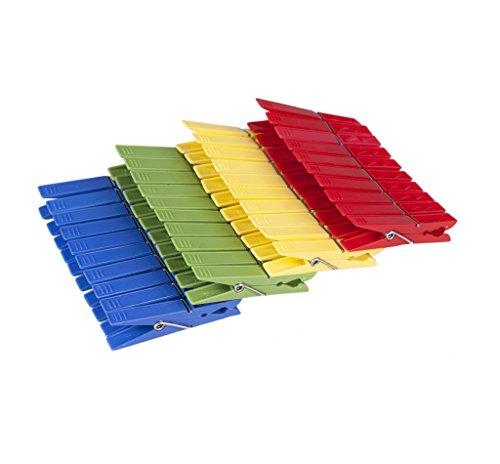 confronta il prezzo mollette mollette mollette da bucato in plastica colorata (200 pezzi) miglior prezzo