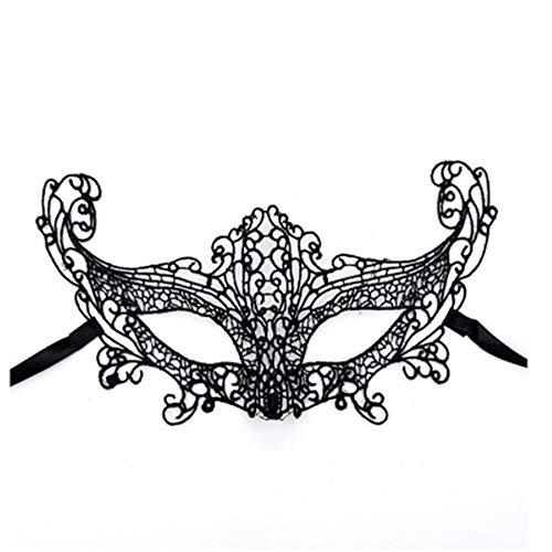 ZjkMr Kaufen Sie One Get One Free / Lace Eye Damen Lace Venice Masquerade Ball Rollenspiel Kostüm Maske (11 Styles optional) F 15cmX10cm