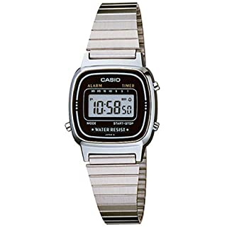 Casio Ladies Digital Watch LA670WA In Silver Black (B000LQHWUY) | Amazon price tracker / tracking, Amazon price history charts, Amazon price watches, Amazon price drop alerts