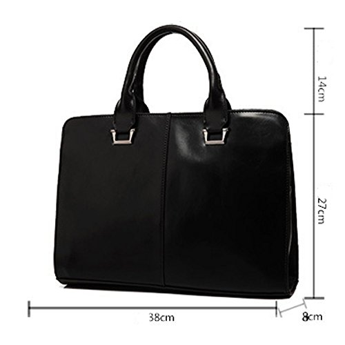 Multiuso Conciso Business Casual Borsa Briefcase Spalla Propenso Per Gli Uomini Neri Brown