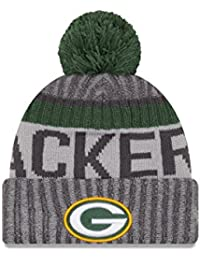 "Green Bay Packers New Era 2017 NFL ""Sport Knit"" Cuffed Hat Hut with Pom - Graphite"