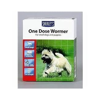 one dose wormer small dogs and puppies 3 dose pack 7