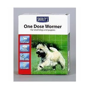 one dose wormer small dogs and puppies 3 dose pack