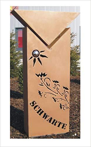 Jabo Design individuell gestaltbare Säule RS86 Gartensäulen Blumensäule Fackel Gartendeko …