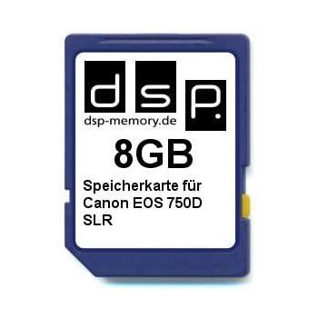 DSP Memory Tarjeta de Memoria para Canon EOS 1300d 8 GB ...