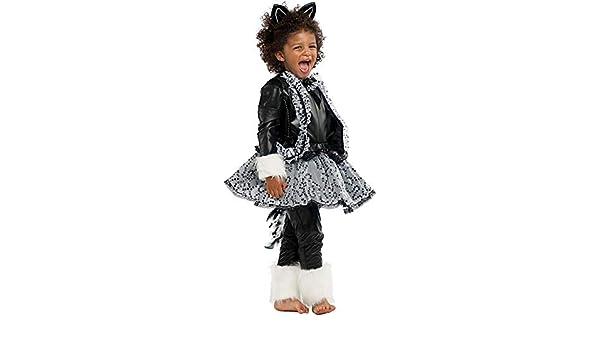 Costume di Carnevale da GATTA Nera Lusso Vestito per Ragazza Bambina 7-10  Anni Travestimento Veneziano Halloween Cosplay Festa Party 53174 Taglia  7 S  ... 091d40d73ff
